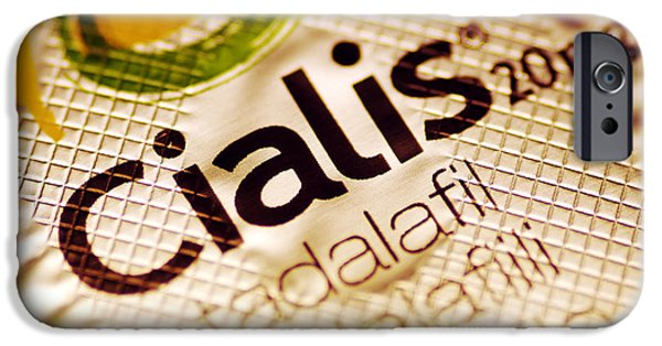 Pill iPhone Cases - Cialis Packaging iPhone Case by Pasieka