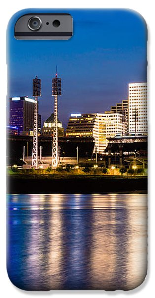 Cincinnati Skyline at Night  iPhone Case by Paul Velgos
