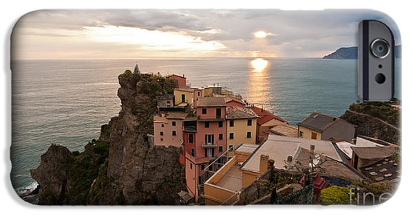 Evening iPhone Cases - Cinque Terre Tranquility iPhone Case by Mike Reid