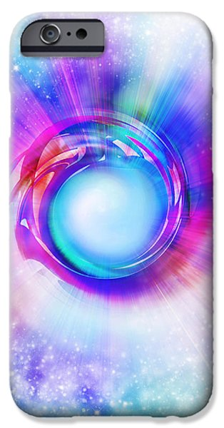 circle eye  iPhone Case by Setsiri Silapasuwanchai