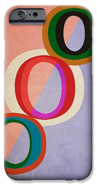 Disc iPhone Cases - Circles Abstract iPhone Case by Edward Fielding