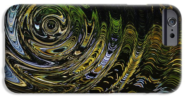 Abstract Digital iPhone Cases - Circles and Swirls Acc iPhone Case by John Bailey