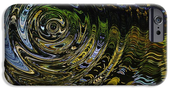Abstract Digital Photographs iPhone Cases - Circles and Swirls iPhone Case by John Bailey