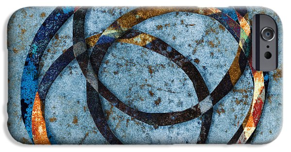 Enso iPhone Cases - Circles Within iPhone Case by Carol Leigh
