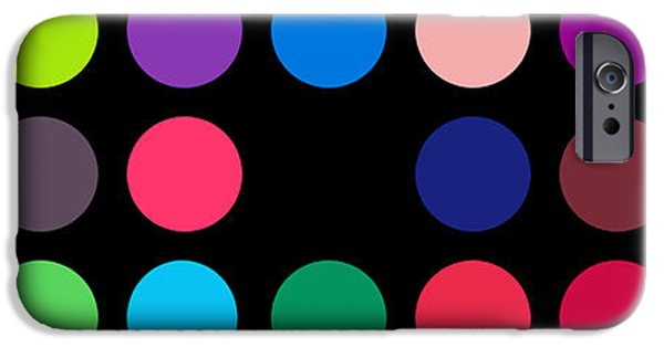 David iPhone Cases - Circular Alphabet On Black iPhone Case by Revad David Riley
