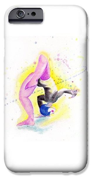 Figures iPhone Cases - Circus Performer iPhone Case by Cecily Mitchell