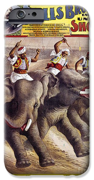 Fez iPhone Cases - CIRCUS POSTER, c1890 iPhone Case by Granger