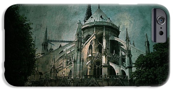 Notre Dame Cathedral iPhone Cases - Citadel iPhone Case by Andrew Paranavitana