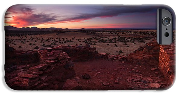 Ruin iPhone Cases - Citadel Sunset iPhone Case by Mike  Dawson