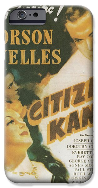 Collins iPhone Cases - Citizen Kane - Orson Welles iPhone Case by Nomad Art And  Design