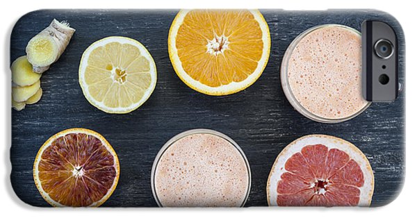 Table Top iPhone Cases - Citrus smoothies iPhone Case by Elena Elisseeva