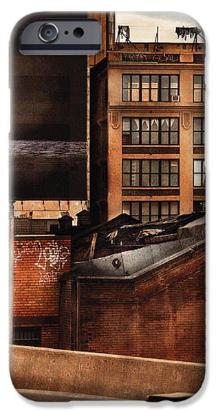 City - NY - New York History iPhone Case by Mike Savad