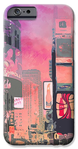 City-Art NY Times Square iPhone Case by Melanie Viola