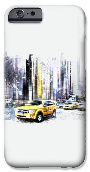 City-Art TIMES SQUARE II iPhone Case by Melanie Viola