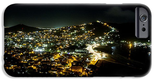 Town iPhone Cases - City at nigth iPhone Case by Hernan Caputo