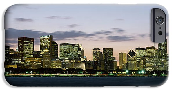 Sears Tower iPhone Cases - City At The Waterfront, Chicago iPhone Case by Panoramic Images