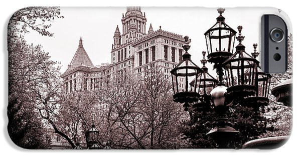 Old City iPhone Cases - City Hall iPhone Case by Az Jackson