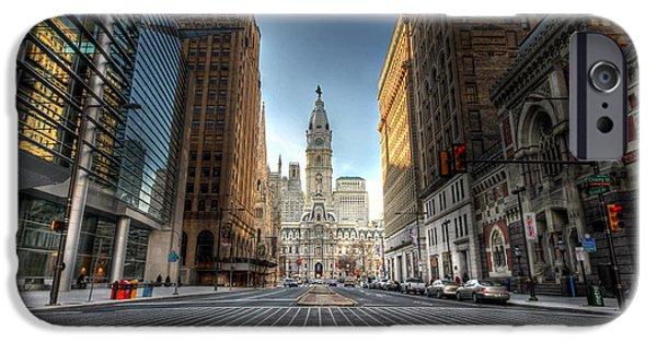 Philadelphia City Hall iPhone Cases - City Hall iPhone Case by Lori Deiter