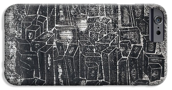 Buildings Mixed Media iPhone Cases - City In Dark  iPhone Case by Igor Kislev