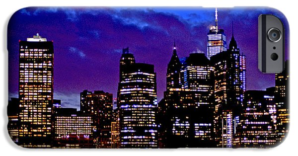 Freedom iPhone Cases - City Lights iPhone Case by John Turner