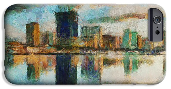 D.c. iPhone Cases - City Limits - Painting iPhone Case by Sir Josef  Putsche