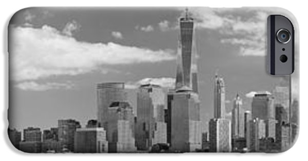Twin Towers Nyc iPhone Cases - City - NY - The shades of a city iPhone Case by Mike Savad