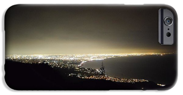 Night Angel iPhone Cases - City of Angels II  iPhone Case by Lorie Stevens