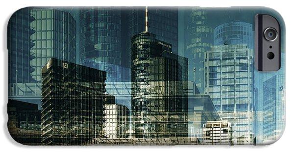 Hightower iPhone Cases - city of Frankfurt iPhone Case by Claudia Moeckel