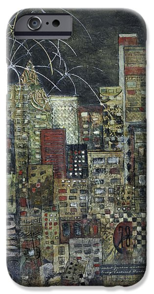 City Scape Mixed Media iPhone Cases - City of LIght iPhone Case by Barb Pearson