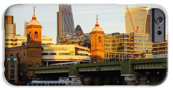 Business iPhone Cases - City of London 5 iPhone Case by Marcin Rogozinski