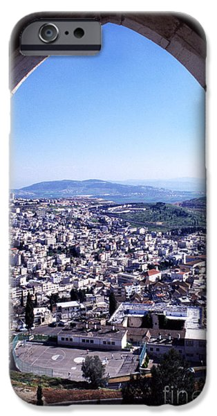 City of Nazareth from the Saint Gabriel Bell Tower iPhone Case by Thomas R Fletcher