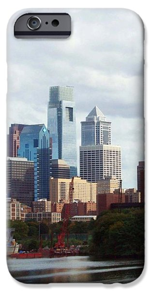 City of Philadelphia iPhone Case by Linda Sannuti