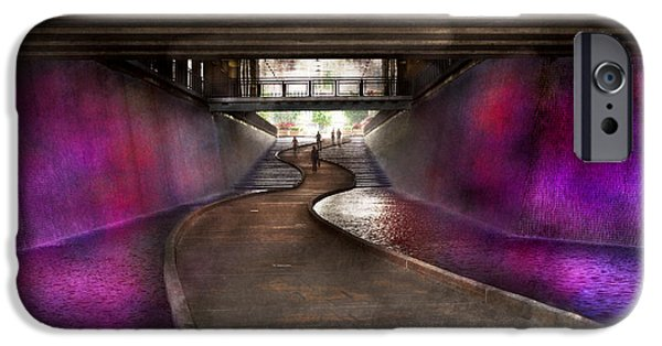 Pathway iPhone Cases - City - Pittsburgh PA - Welcome to the future iPhone Case by Mike Savad