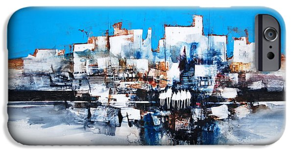 Buildings Mixed Media iPhone Cases - City series 101 iPhone Case by Jerry Stangl