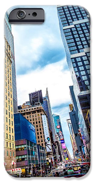 Bus Photographs iPhone Cases - City Sights NYC iPhone Case by Az Jackson
