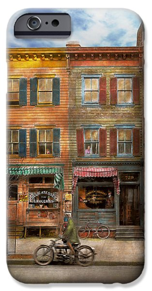 Lightweight iPhone Cases - City - Washington DC - Ghosts of the past 1925 iPhone Case by Mike Savad