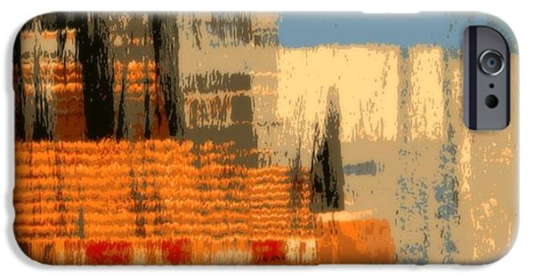 Cities Tapestries - Textiles iPhone Cases - Cityscape iPhone Case by Elizabeth Cope May