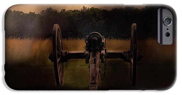 Weapon iPhone Cases - Civil War Cannon iPhone Case by Mim White