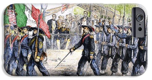 American Flag iPhone Cases - Civil War: Garibaldi Guard iPhone Case by Granger