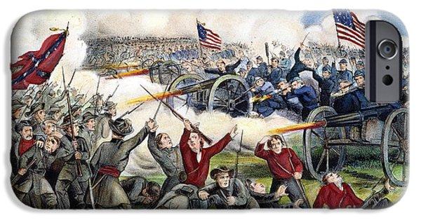Flag iPhone Cases - Civil War: Gettysburg, 1863 iPhone Case by Granger