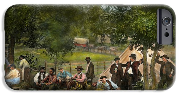 Floral Photographs iPhone Cases - Civil War - Gettysburg camp of Captain Huft 1865 iPhone Case by Mike Savad