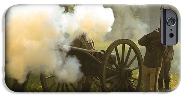 Civil War Re-enactment iPhone Cases - Civil War iPhone Case by Kim Henderson