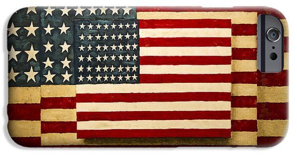 Lincoln iPhone Cases - Civil War Old Glory iPhone Case by David M Porter