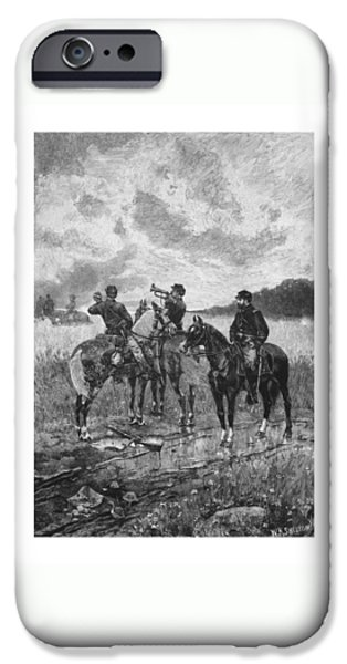 American History iPhone Cases - Civil War Soldiers On Horseback iPhone Case by War Is Hell Store