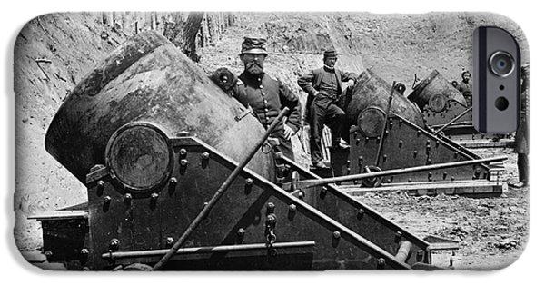 Best Sellers -  - Yorktown Virginia iPhone Cases - Civil War: Union Mortars iPhone Case by Granger