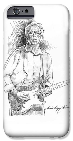 Stratocaster Drawings iPhone Cases - Clapton Riff iPhone Case by David Lloyd Glover