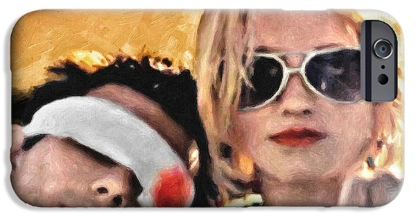 Quentin Tarantino iPhone Cases - Clarence and Alabama iPhone Case by Taylan Soyturk
