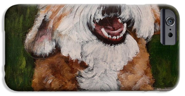 Cute Puppy iPhone Cases - Clarence iPhone Case by Carol Russell