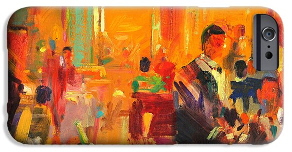 Waiter Paintings iPhone Cases - Claridges iPhone Case by Peter Graham