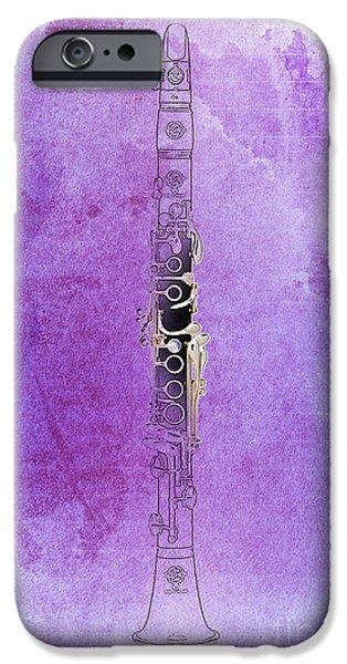 Balck Art iPhone Cases - Clarinet 21 Jazz P iPhone Case by Pablo Franchi